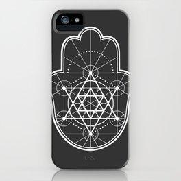 Sacred Geometry Hamsa iPhone Case