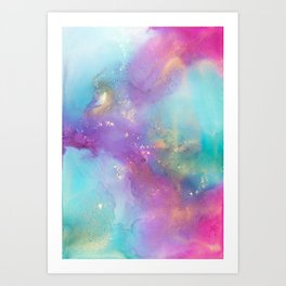 Alcohol Ink - Galaxy Meets Ocean Art Print