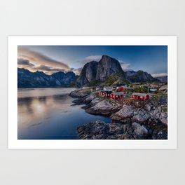 Iconic view of Lofoten Art Print