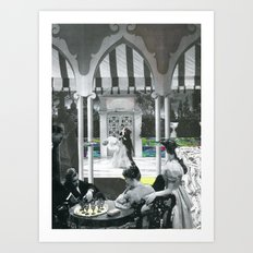 tea party collage Art Print