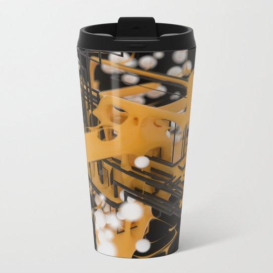 Data Network Metal Travel Mug