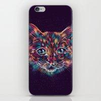 space cat iPhone & iPod Skins featuring Space Cat by dan elijah g. fajardo