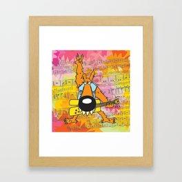 Rocker Wolf  Framed Art Print