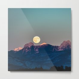 The Rising Moon Metal Print