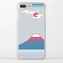 snow mountain 02 Clear iPhone Case