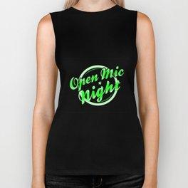 Open Mic Night Florescent Light Biker Tank