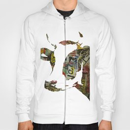 Graffiti Cow Pop Art Colorful Modern Abstract Painting Poster Print Hoody