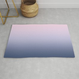 Ombre Millennial Pink Lilac Blue Gradient Pattern Rug