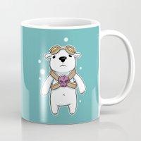 pilot Mugs featuring Polar Pilot by Freeminds