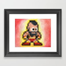 Zanglief 8 bit water color  Framed Art Print