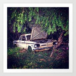 Vintage Rusty Car  Art Print