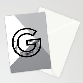 G monogram no. 1 - angle series Stationery Cards