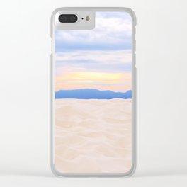 Beach Sunset Clear iPhone Case
