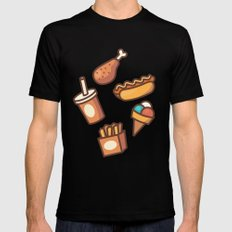 Fast Food Mens Fitted Tee Black MEDIUM