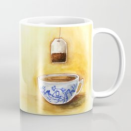 A cup of tea watercolor illustration Coffee Mug