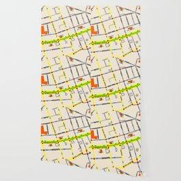 Tel Aviv map - Rothschild Blvd. Hebrew Wallpaper