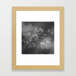 Stems of Gray Framed Art Print
