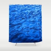 oasis Shower Curtains featuring Oasis by Atomic Kitty Photography