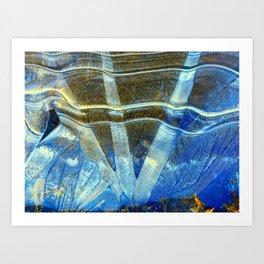 Winters Mirror Art Print
