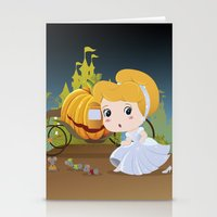 cinderella Stationery Cards featuring Cinderella by 7pk2 online
