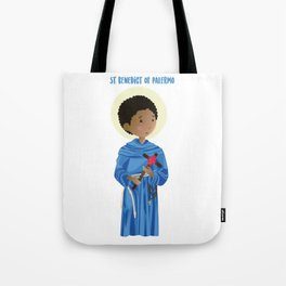 St.Benedict of Palermo Tote Bag