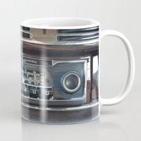 mercedes Mugs featuring Vintage Radio Becker Europa by Premium