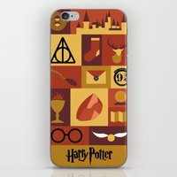 harry potter iPhone & iPod Skins featuring Potter by Polvo