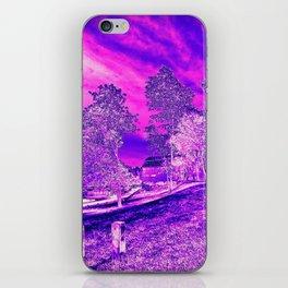 Pink N Purple Rural Scene iPhone Skin
