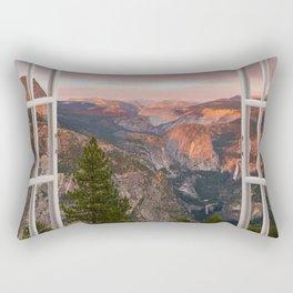 Hills through the window 2 Rectangular Pillow