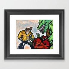 Battle at the Arena Framed Art Print