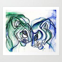 Fierce Love Art Print