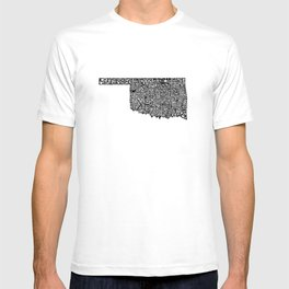 Typographic Oklahoma T-shirt