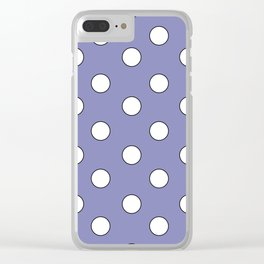 Lavender Pastel Polka Dots Clear iPhone Case