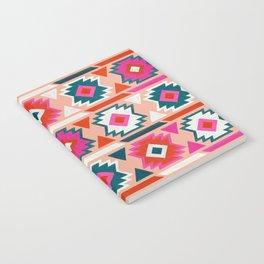 Kilim Abundance Pattern  - Blush & Teal Palette Notebook