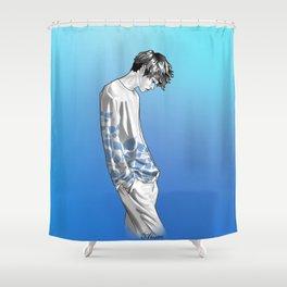 FLOWER BOY TWO: BLUE Shower Curtain