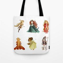 Chibi Goddesses Tote Bag