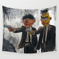 humor Wall Tapestries featuring Pulp Street by Beery Method