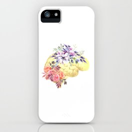 Floral Human Brain Anatomy  iPhone Case