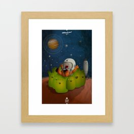 Welcome to mars! Framed Art Print