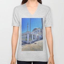 Istanbul Mosque Cat Unisex V-Neck