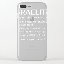 Israelite T-shirt Hebrew Israelites Clothing Judah Yahuah Clear iPhone Case