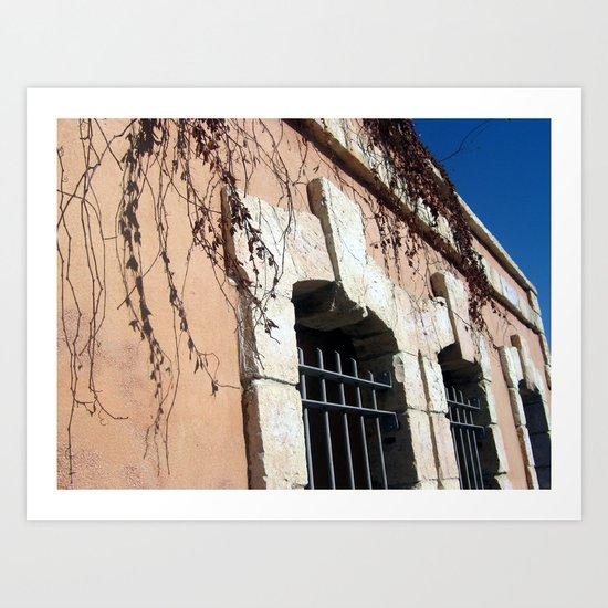 Jaffa Street Ancient Architecture Art Print