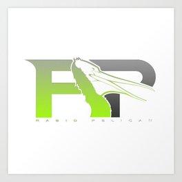 Rabid Pelican Logo Art Print