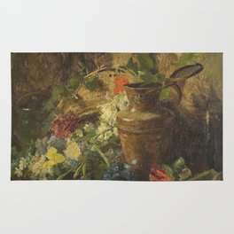 Theodore Clement Steele - Flowers And Vase Rug