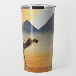 Sudden Sand Storm At Giza Pyramids Egypt Travel Mug
