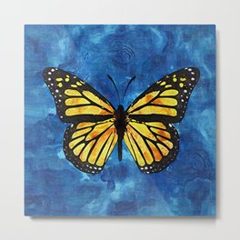 Monarch Butterfly Digital Painting Metal Print