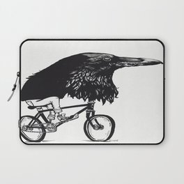 Black Bird Riding Laptop Sleeve
