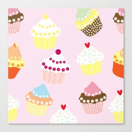I Love Cupcakes Canvas Print