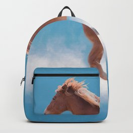 Walking on clouds over the blue sky - version #2 - #society6 #buyart Backpack
