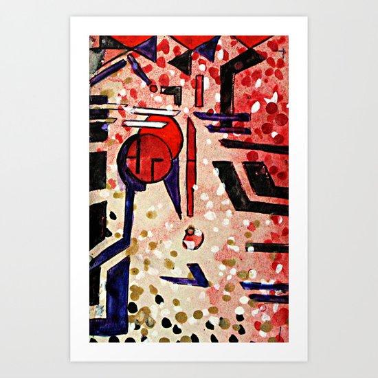 rollover acid leak Art Print